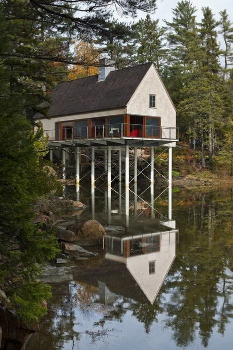 Pond House, Mount Desert, Maine - Cool Modern | JUST ARCHITECTURE | Scoop.it