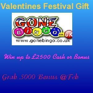 Celebrate Valentine's Month With A Feast of Rewards at Gone Bingo   UK Bingo Place   Scoop.it