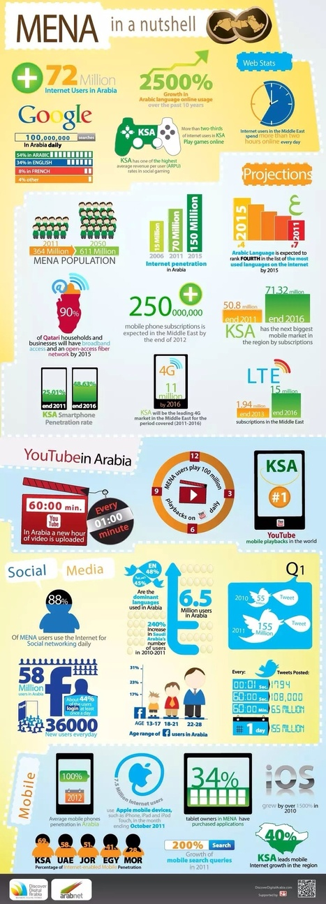 MENA internet in a nutshell #Infographics | SM | Scoop.it