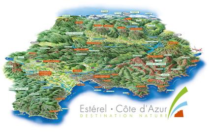 Carte du territoire | Esterel - Saint-Raphaël - Fréjus | de rivages en calanques | Scoop.it
