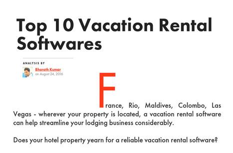 The 10 Best Vacation Rental Management Software Reviews.   Wordpress, Magento & Joomla Plugins Download   Scoop.it