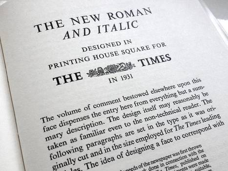 A brief history of Times New Roman | D_sign | Scoop.it