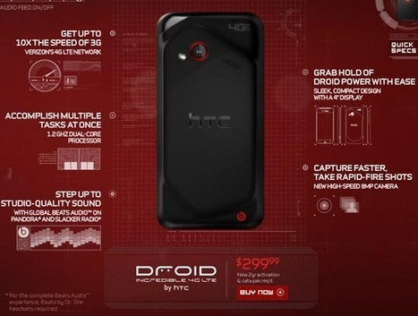 DROID Incredible 4G LTE for Verizon outed early on DROID Does site | SmartPhone Envy | Best Smartphone 2012 : 2012 Smart Phone Reviews | Scoop.it