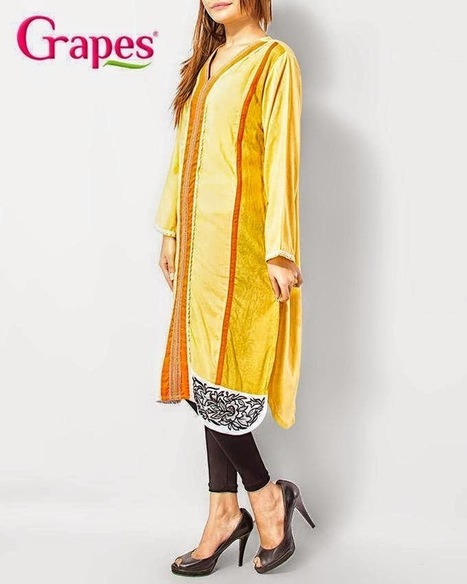 GrapesParty Kurta Winter Outfit Collection 2015 For Female | Your Choice For Dress | Your choice for dress | Scoop.it