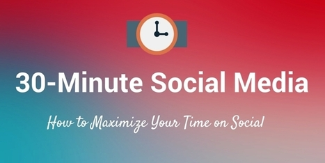 Best Way to Spend 30 Minutes of Your Time on Social Media | Social Media Strategies | Scoop.it
