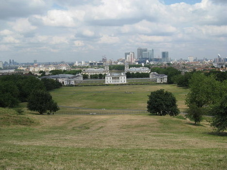 Greenwich Park- View from Observatory hill towards Canary Wharf and Central London:: OS grid TQ3877 :: Geograph Britain and Ireland - photograph every grid square! | The Royal Parks of London | Scoop.it