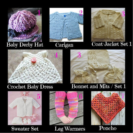 Sanderella's Crochet Blog: Baby clothing crochet free patterns | Crochet | Scoop.it