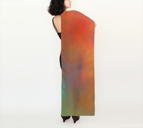 """Tequila Sunrise Long Scarf (16"""" x 72"""") 