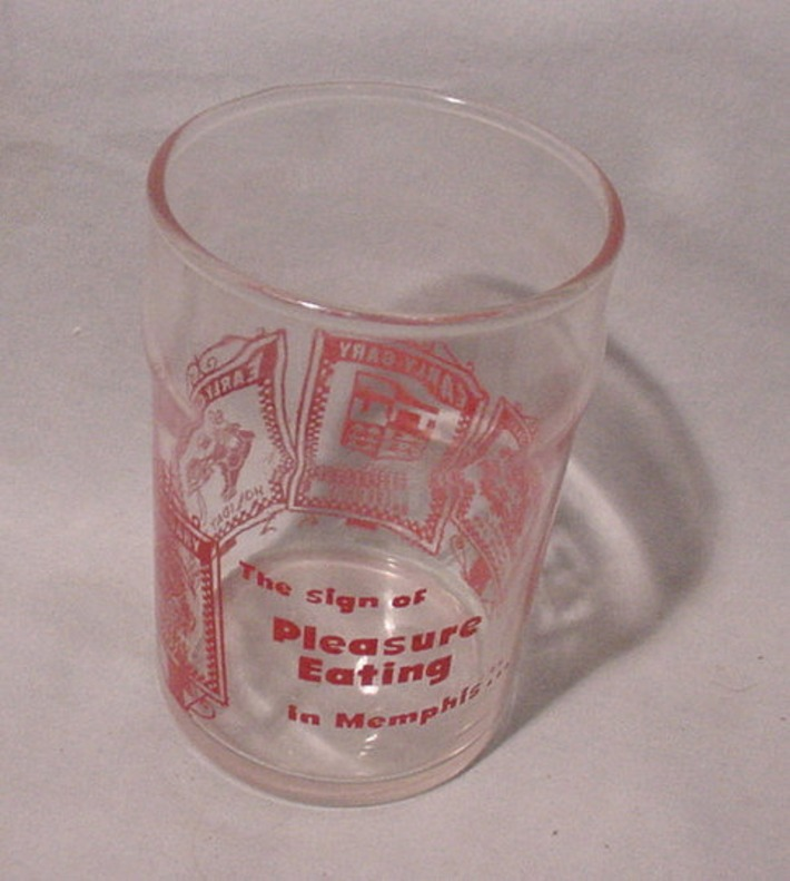 Unique Souvenir Glass from Memphis TN Early Gary Hotels Belvedere Stable Etc. | Antiques & Vintage Collectibles | Scoop.it