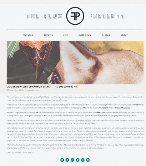 THE FLUX PRESENTS | Live Review: Jilk EP launch @ Start The Bus (20/03/16) | Jilk | Scoop.it