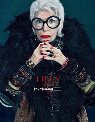 À 90 ans, Iris Apfel devient l'égérie des cosmétiques M.A.C.  - Elle | La perception des produits MAC en France | Scoop.it