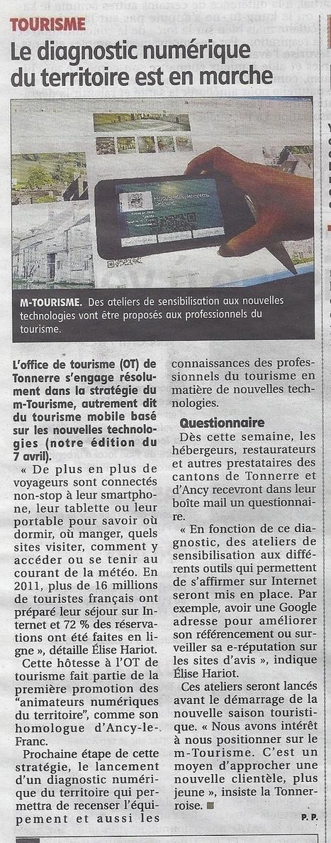 Office de tourisme de Tonnerre : Le diagnostic numériquedu territoire est en marche | Animation Numérique de Territoire | Scoop.it