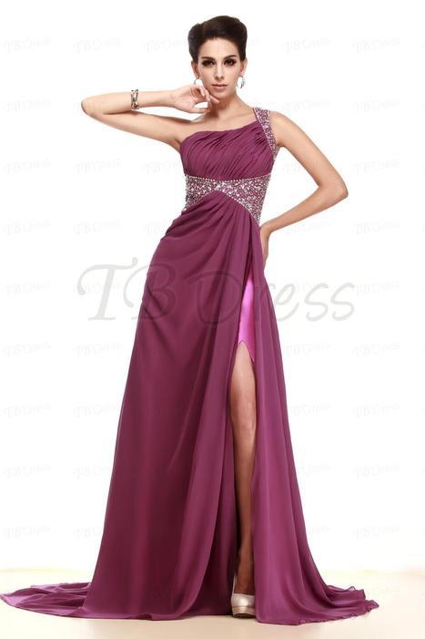 $ 119.49 One Shoulder Floor-Length Split Front Taline's Evening Pageant Dress | fashion pants | Scoop.it