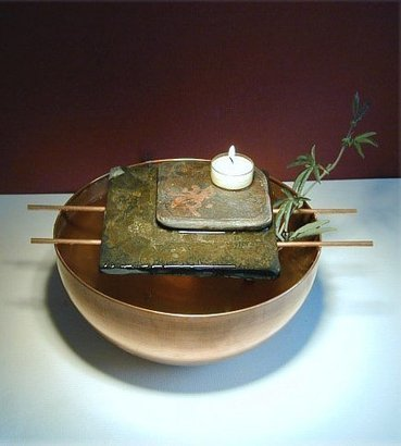 Exalted Fountains   Asian Candle Slate Table Top Fountain   Indoor Fountains In All Sizes   Scoop.it
