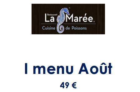 I-MENU du restaurant La Marée ! | Gastronomie Française 2.0 | Scoop.it