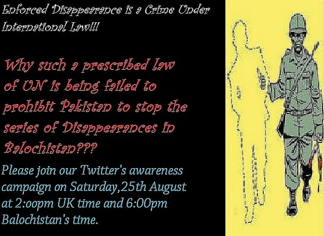 #EnforcedDisappearancesInBalochistan Worldwide protest on August 30th! | Human Rights and the Will to be free | Scoop.it