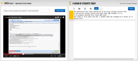Free Technology for Teachers: VideoNotes - A Great Tool for Taking Notes While Watching Academic Videos | Edtech PK-12 | Scoop.it