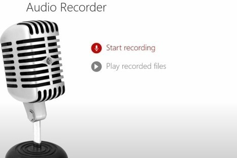 Audio Recorder App For Windows 8 | Time to Learn | Scoop.it