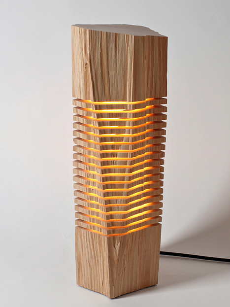 Sliced Sculpture Lamps Highlight the Natural Beauty of Firewood | Communication design | Scoop.it