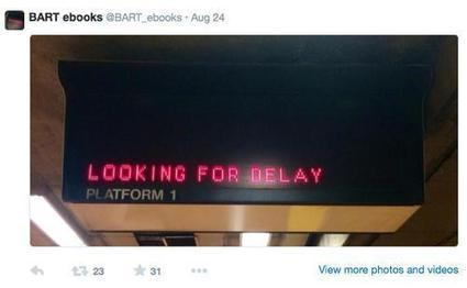 Twitter Account of the Week: Discover the Accidental Poetry of Metro Stations ... - Yahoo Tech | LED Display Signs | Scoop.it