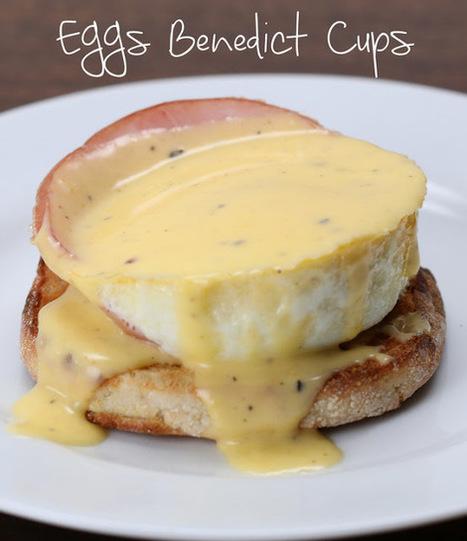 #Recipe : Baked Eggs Benedict Cups | DIY & Crafts | Scoop.it