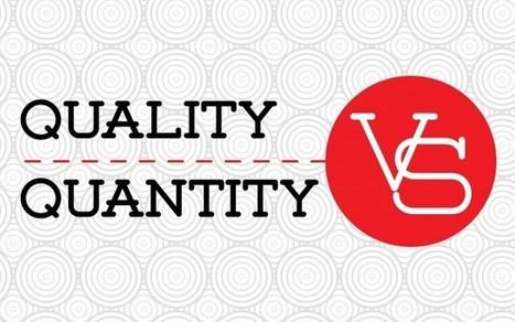 Myth-Bunking Quantity Vs. Quality In Social Media Marketing | Social Media Research, Research Social Media | Scoop.it