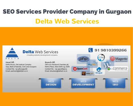 Online promotion Company in Gurgaon| Best SEO Service Provider in Gurgaon | Delta Web Services | Scoop.it