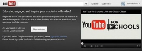 "Google lanza Youtube para Escuelas, solo vídeos educativos | ""Redes sociales en Español"" 