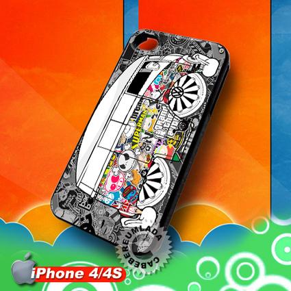 Volkswagen Van Stickerbomb iPhone 4 4S Case for sale | Customizable Smart Phone Cases | Scoop.it