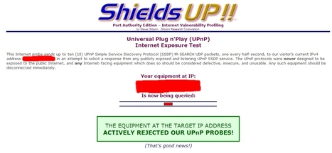 Shields UP!! - UPnP Exposure Test | ICT Security Tools | Scoop.it