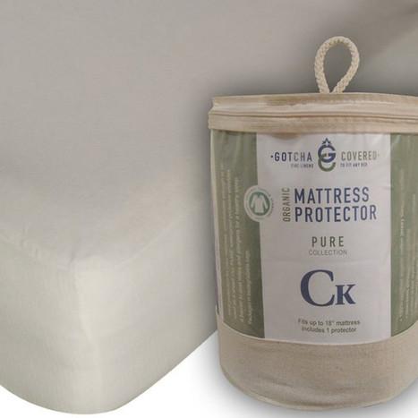 "100% Certified Organic 18"" Pocket Mattress Protectors King Natural organic bedding | homeschooling | Scoop.it"