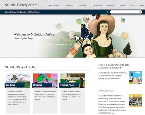 National Gallery of Art NGAkids Art Zone   Visual Arts for Students   Scoop.it
