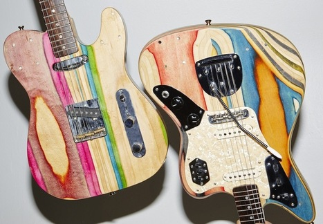 San Francisco-Based Company Builds Guitars From Recycled Skateboard Decks   Amazing art!   Scoop.it