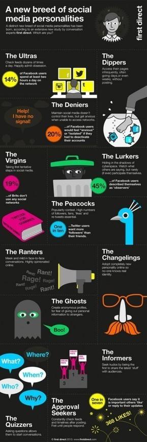 Infographie : les 12 profils sur les réseaux sociaux   Web   Scoop.it