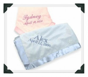 Satin Trim Personalized Baby Blanket | Babies Shower Gifts | Scoop.it