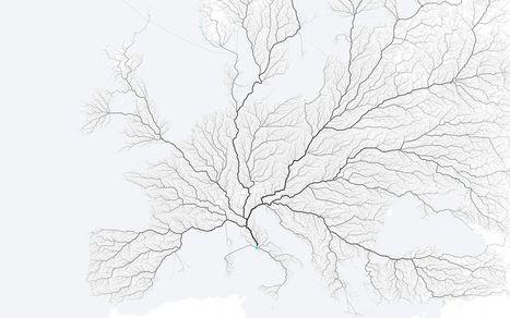 Αυτός ο χάρτης δείχνει πως όλοι οι δρόμοι, οδηγούν και σήμερα στη Ρώμη | omnia mea mecum fero | Scoop.it