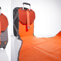 Built-In Suitcase Blanket Gives You a Clean Place to Sit in Airports or Anywhere | Troy West's Radio Show Prep | Scoop.it