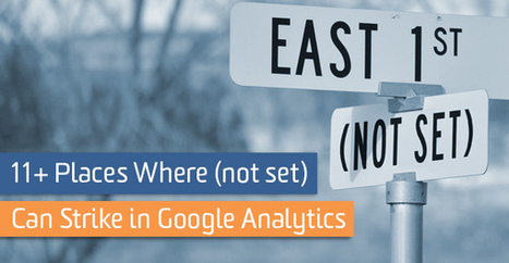 11+ Places Where (not set) Can Strike in Google Analytics | Online Marketing Resources | Scoop.it