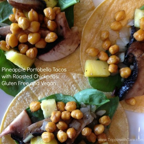 Pineapple Portobello Tacos with Roasted Chickpeas: Gluten Free and Vegan #Vegan #GlutenFree #Recipe | My Vegan recipes | Scoop.it