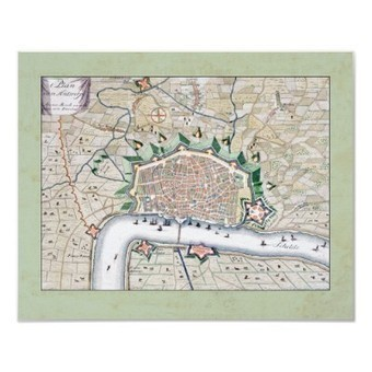 Antique Map of the Fortifications of Antwerp Print from Zazzle.com | Designs by ANTIQUE IMAGES | Scoop.it