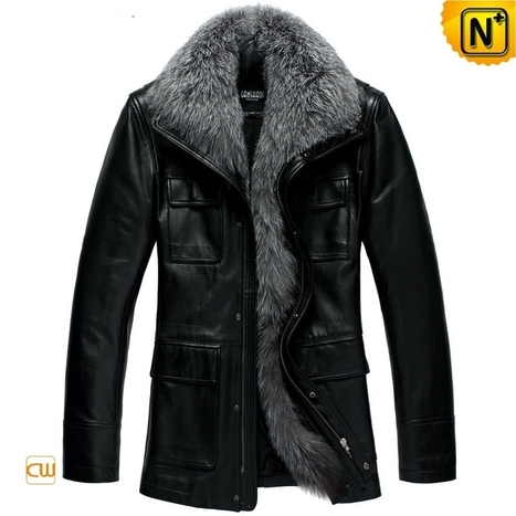 CWMALLS® Mens Fur Leather Jacket CW832604 | Leather Trench Coat | Scoop.it