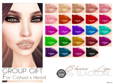 Clarice Lips For Catwa Head Group Gift by SlackGirl | Teleport Hub - Second Life Freebies | Second Life Freebies | Scoop.it