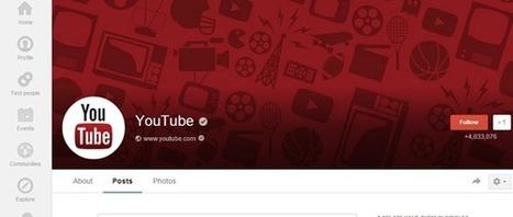Google teste la liaison des pages Google+ aux chaînes YouTube | Médias sociaux et SEM | Scoop.it