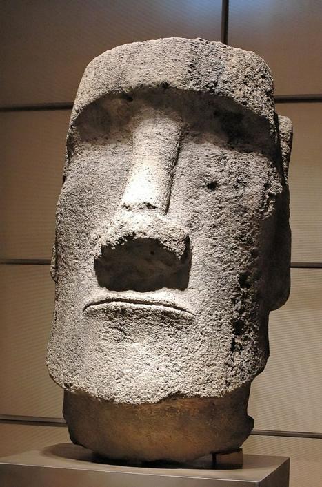 Tête monumentale de Moaï   Aux origines   Scoop.it