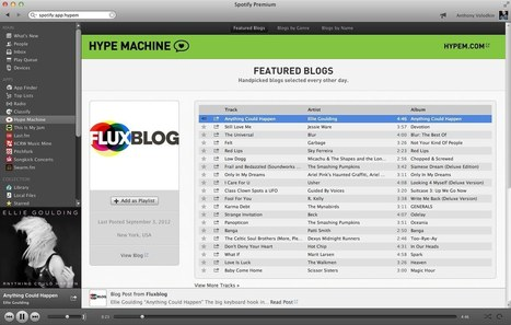 Hype Machine on Spotify • The Hype Machine Blog | Streaming Music Services | Scoop.it