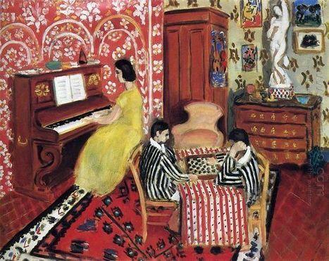 Pianiste et Checker joueurs 1924 - Peinture à l'huile | famous paintings gallery | Scoop.it