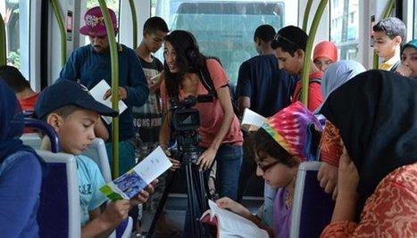 Maroc : Quand le tramway de Casa se transforme en espace de lecture | Insolite bibliothèque | Scoop.it