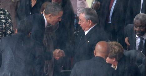 Obama Shakes Hands With Cuba's Raul Castro at Mandela's Memorial | Cuba | Scoop.it
