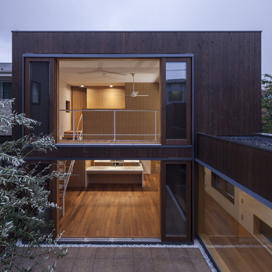 Offset timber volumes create courtyards at House in Komae by Architect Cafe   Eco-Friendly Design   Scoop.it