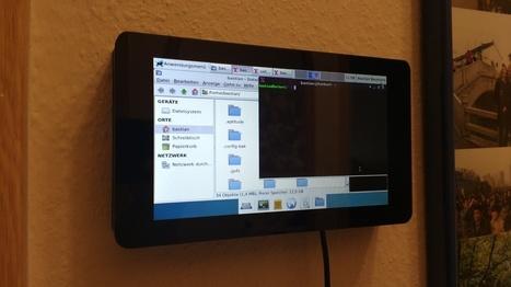 Raspberry Pi Display wall mount 3D Printed by Bastian | Raspberry Pi | Scoop.it